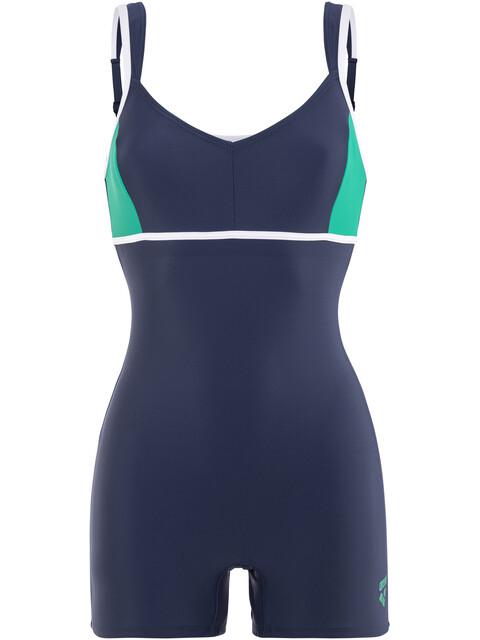 arena Venus Combi Swimsuit Women navy-persian green-white